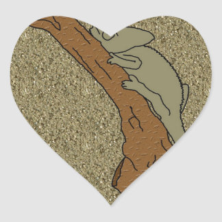 Chameleon Sands Heart Sticker