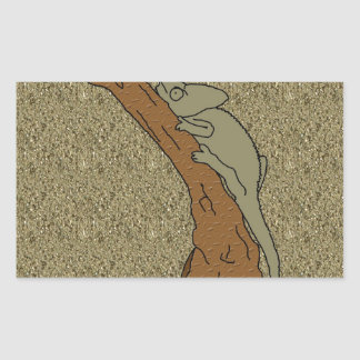 Chameleon Sands Rectangular Sticker