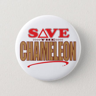 Chameleon Save 6 Cm Round Badge
