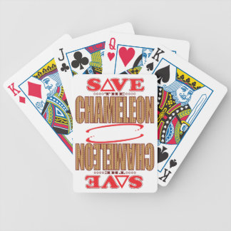 Chameleon Save Bicycle Playing Cards