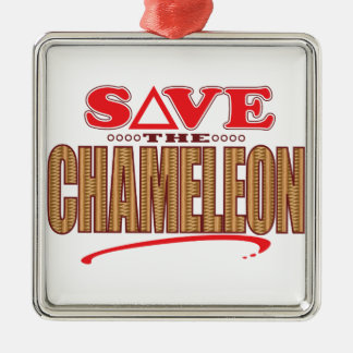 Chameleon Save Christmas Ornament