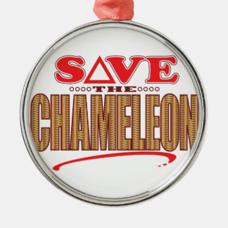 Chameleon Save Christmas Ornament