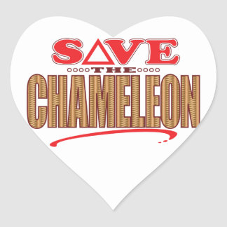 Chameleon Save Heart Sticker