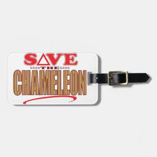 Chameleon Save Luggage Tag