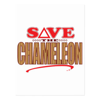 Chameleon Save Postcard