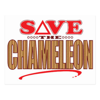Chameleon Save Postcard