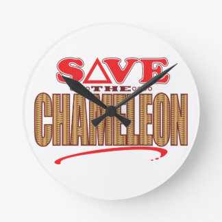 Chameleon Save Round Clock