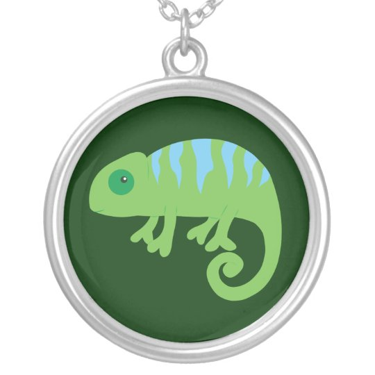 Chameleon Silver Plated Necklace