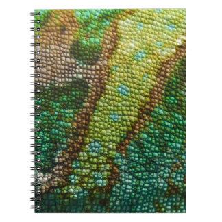 Chameleon Skin Texture Spiral Notebook