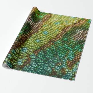 Chameleon Skin Texture Template Wrapping Paper