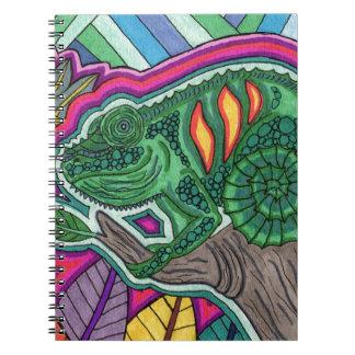 chameleon spiral notebook