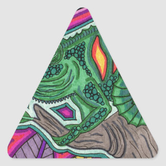 chameleon triangle sticker