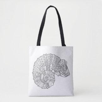 Chameleon Zendoodle 2 Tote Bag