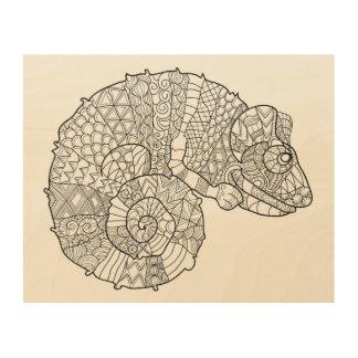 Chameleon Zendoodle 5 Wood Wall Decor