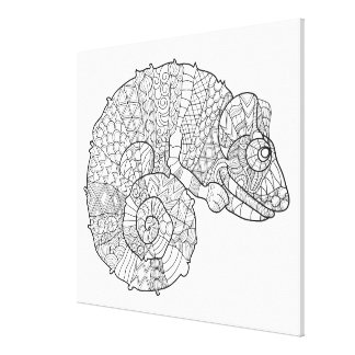 Chameleon Zendoodle 6 Canvas Print