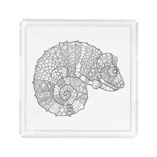 Chameleon Zendoodle Acrylic Tray