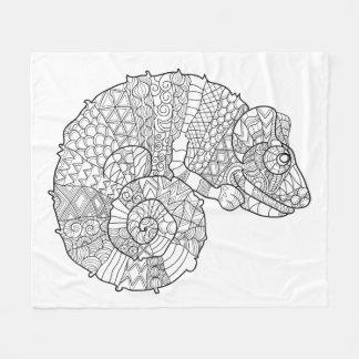 Chameleon Zendoodle Fleece Blanket
