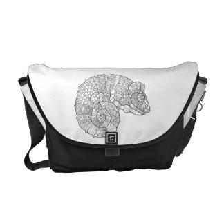 Chameleon Zendoodle Messenger Bag