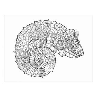 Chameleon Zendoodle Postcard
