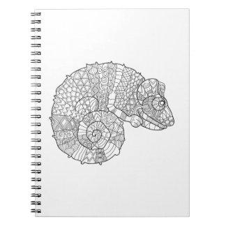 Chameleon Zendoodle Spiral Notebook