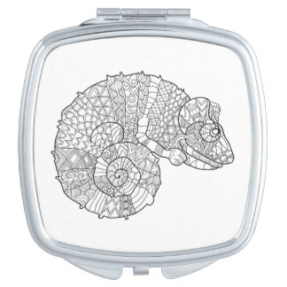 Chameleon Zendoodle Travel Mirror