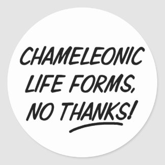 Chameleonic Life Forms Round Sticker