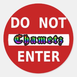 CHAMETZ - DO NOT ENTER STICKERS