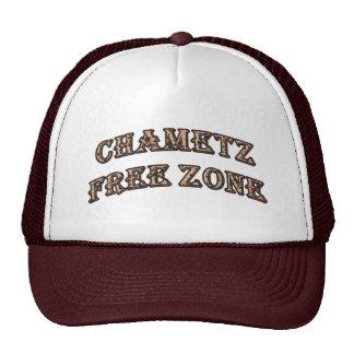 Chametz Free Zone (Matzah Letters) Hats