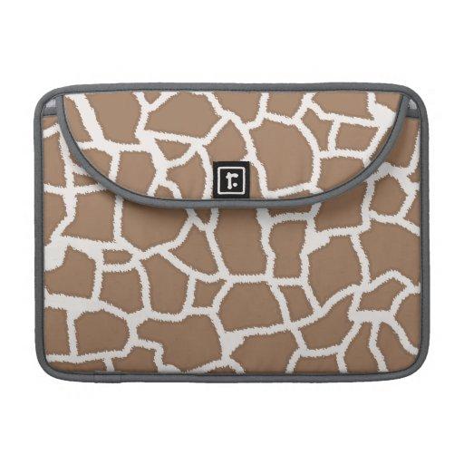 Chamoisee Giraffe Animal Print MacBook Pro Sleeve