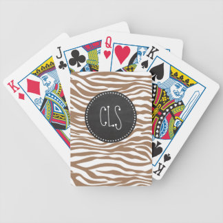 Chamoisee Zebra Animal Print; Chalkboard Bicycle Playing Cards