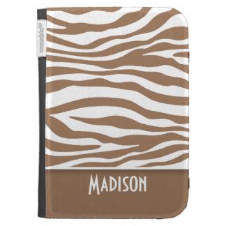 Chamoisee Zebra Animal Print; Personalized Kindle Keyboard Case
