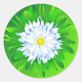 Chamomile Round Sticker