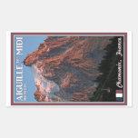 Chamonix - Aiguille du Midi Rectangular Stickers