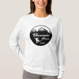 Chamonix France ladies snowboard art hoodie