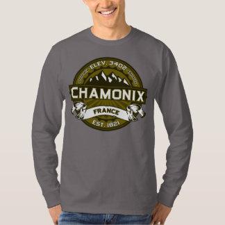 Chamonix France Olive Tees