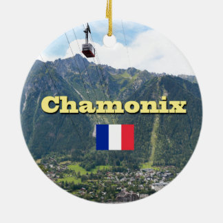Chamonix - Mont Blanc Round Ceramic Decoration