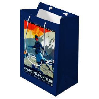 Chamonix-Mont Blanc Vintage PosterEurope Medium Gift Bag