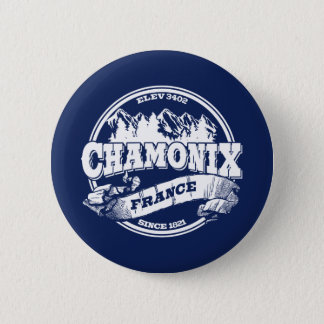 Chamonix Old Circle Blue 6 Cm Round Badge