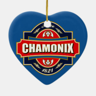 Chamonix Old Label Christmas Ornament