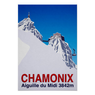 Chamonix Ski Resort France Poster