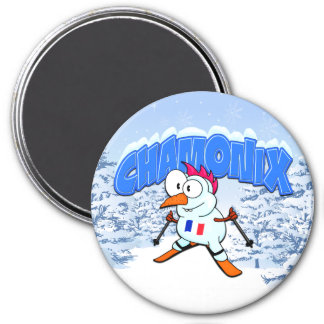 Chamonix Snowman Magnet