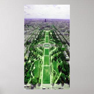 Champ-de-Mars from the Eiffel Tower Print