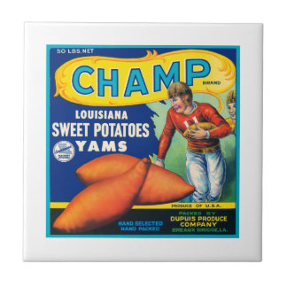Champ Fruit Crate Label Tile