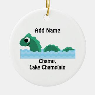Champ, Lake Champlain Round Ceramic Decoration