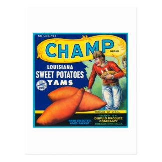 Champ Louisiana Sweet Potatoes Post Card