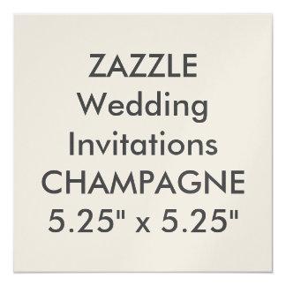 """CHAMPAGNE 110lb 5.25"""" Square Wedding Invitations"""