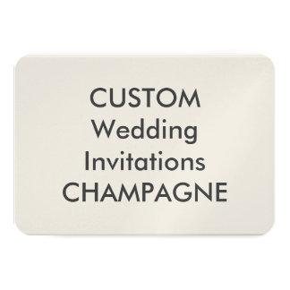 "CHAMPAGNE 110lb 5"" x 3.5"" Wedding Invitations"