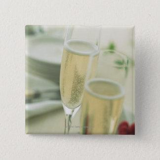 Champagne 15 Cm Square Badge