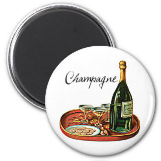 CHAMPAGNE AND BISCUITS VINTAGE PRINT MAGNET