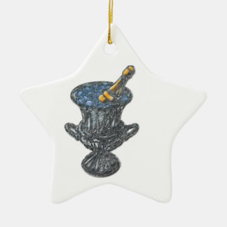 Champagne and Bucket Art Christmas Ornament
